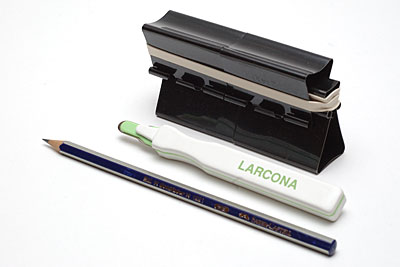 The Super Maul, Larcona staple remover and the Faber-Castell HB Pencil